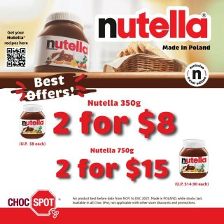 Do you know !? Each jar of Nutella® contains only 7 types of high-quality ingredients: sugar, milk, palm oil, cocoa, hazelnuts, lecithin and vanillin. Made in Poland, suitable for all Muslim friends. HALAL 😄 Enjoy a special Nutella® morning breakfast with your family, in the afternoons #stayhome and do some baking. Get inspired with recipes from Nutella® https://www.nutella.com/us/en/get-inspired/recipes Available in all stores, while stocks last. Enquire for bulk purchases are welcome too!