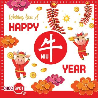 Celebrate 2021 the year of the Ox! 🐂🐃🐄 Choc Spot wishes everyone a Happy New Year: 新年快乐 (xīn nián kuài lè) The act of greeting and blessing during Chinese New Year is called 拜年 (bài nián), which literally means to pay a visit for the New Year. This year of the OX 2021 is surely a different one from the usual feasting and visiting. Be sure to plan ahead before popping up at your close one's doors to 拜年 (bài nián). Don't forget to bring oranges and chocolate gifts! 🍊🍊 @chocspotsg #chocspotsg #CNY #2021 #CNY #holiday #breaktime #chinesenewyear #newyear #YearoftheOxfox #ox #metalox2021